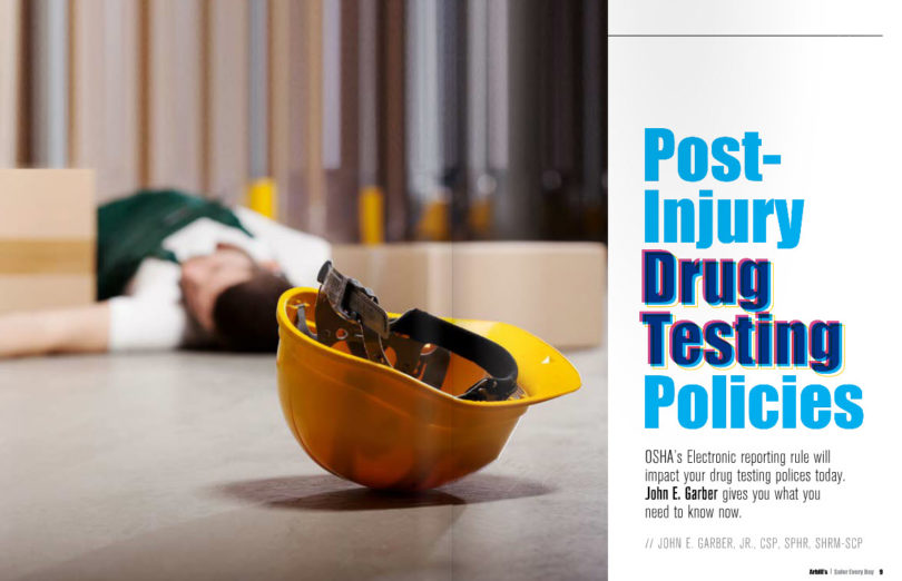 Post Injury Drug Testing Article Cover