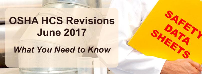 OSHA HCS Safety Data Sheets 2017